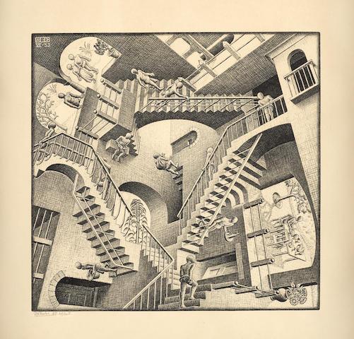 Maurits Cornelis Escher (1898-1972); Relativity (Relativteit);