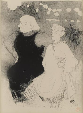 Henri de Toulouse-Lautrec (1864-1901); Au Moulin Rouge: L'Union Franco-Russe;