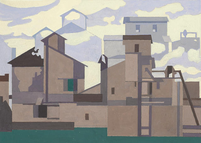 Charles  Sheeler (1883-1965) Architectural Cadences 6 1/4 x 9 1/8in, image; 9 3/4 x 12in, sheet  (Executed in 1954.)
