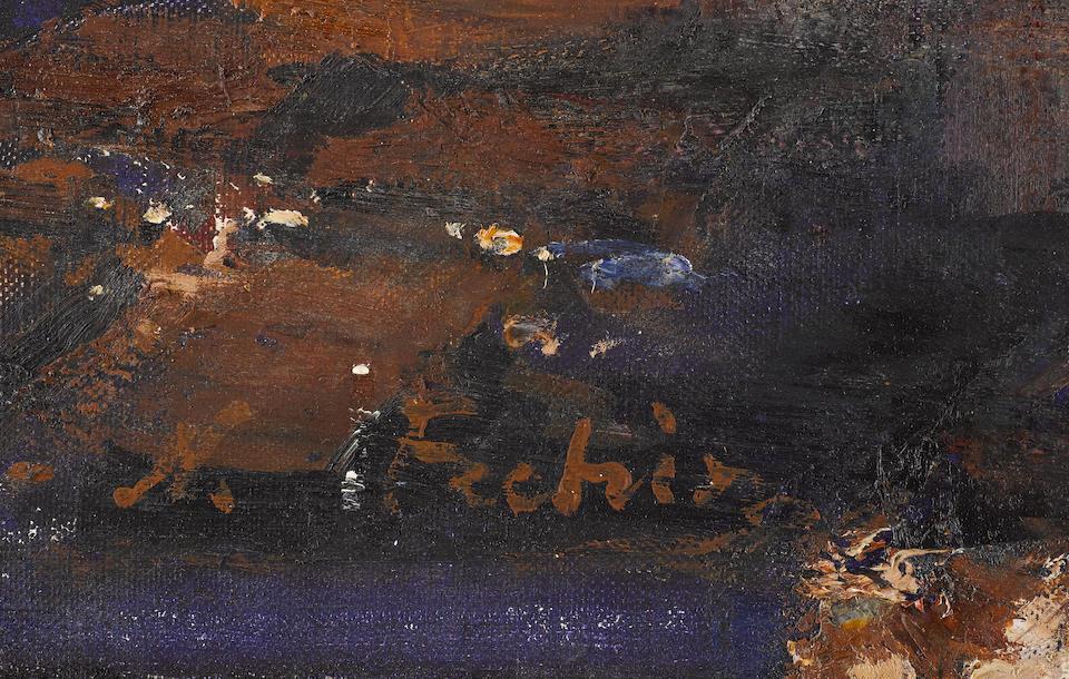 Nikolai Fechin (Russian, 1881-1955) Still life with daisies 61.3 x 51cm (24 1/4 x 20in).
