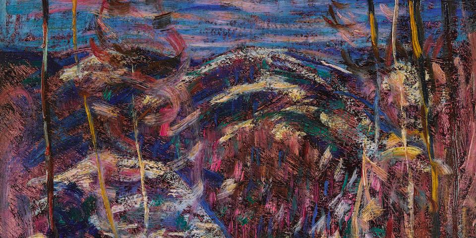 Marsden Hartley (1877-1943) Hills 12 1/8 x 12 1/8in (Painted in 1908.)