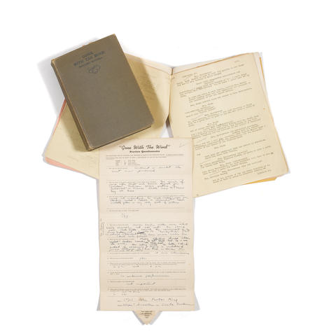 Bonhams A Jane Darwell Collection Of Pages From Her Personal Gone
