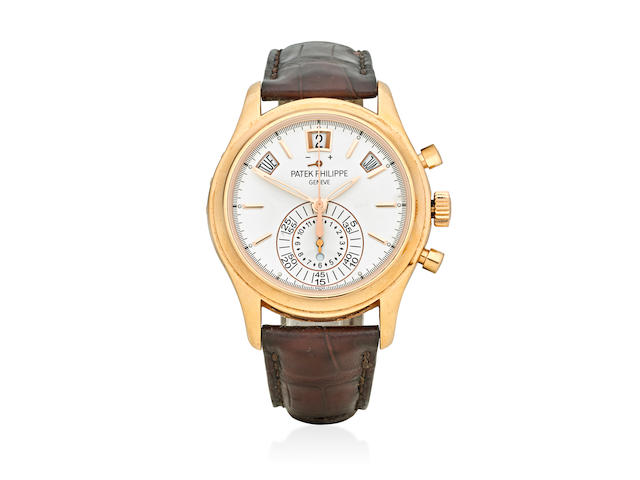 Patek Philippe. A fine 18K rose gold automatic chronograph wristwatch with annual calendarRef: 5960R-011, Sold 2013