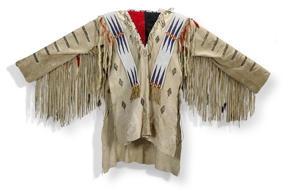 A Blackfoot beaded war shirt
