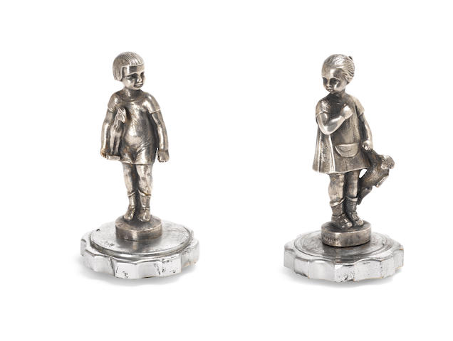 Girl and Boy by Frecourt, French, 1920s,  ((2))