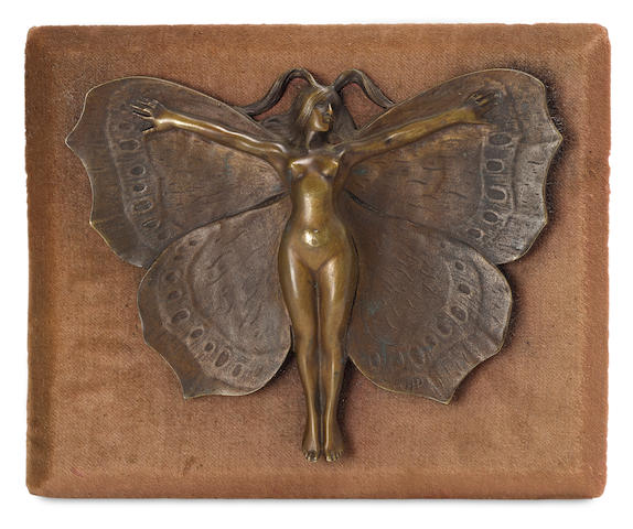 Butterfly Girl radiator grille mascot by Henri Payen, French, circa 1920,