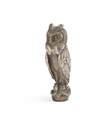 An 'Hibou et Serpent' mascot, French, 1920s,