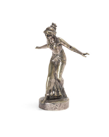 A Roman Girl mascot by Henri Fugre, French, 1910s,