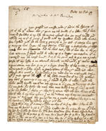 """LOCKE, JOHN. 1632-1704. Autograph Letter Signed (""""J Locke""""), 2 pp, 8vo (conjoining leaves), Oaks, October 27, 1698, to Ezekial Burridge of Dublin,"""