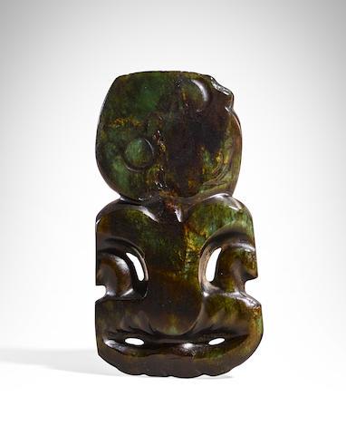 Maori Anthropomorphic Pendant, New Zealand, ca. 1600-1850
