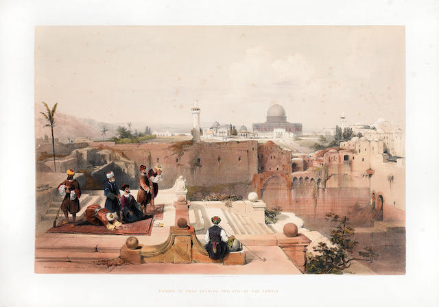 ROBERTS, DAVID. 1796-1864, artist; and GEORGE CROLY. 1780-1860. The Holy Land, Syria, Idumea, Arabia....  London: F.G. Moon, 1842-43-49.