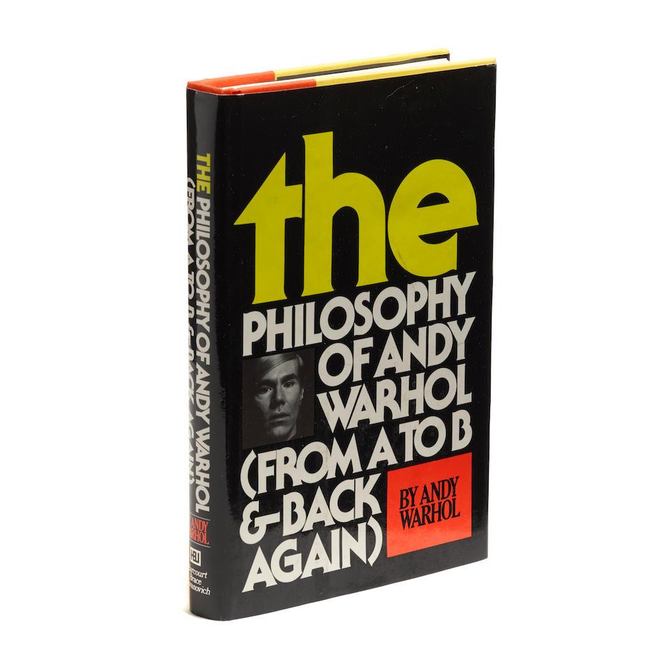 WARHOL, ANDY. 1928-1987. The Philosophy of Andy Warhol.  New York: Harcourt Brace Jovanovich, [1975].
