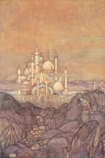 DULAC, EDMUND, illustrator. HOUSEMAN, LAURENCE, translator. Stories from the Arabian Nights. London: Hodder & Stoughton, 1907.
