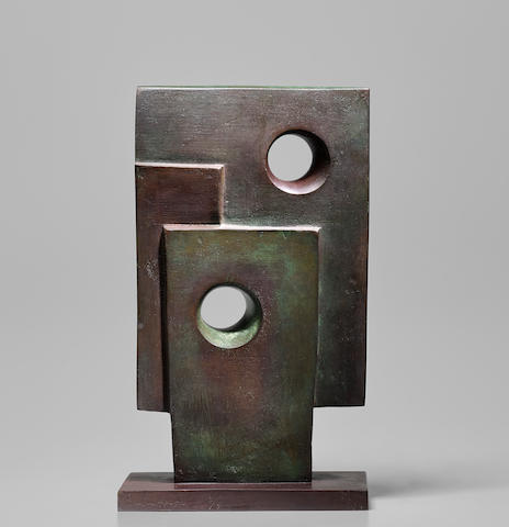 Dame Barbara Hepworth (British, 1903-1975) Maquette for Monolith 33 cm. (13 in.) high (Conceived in 1963-1964, and cast in 1964)