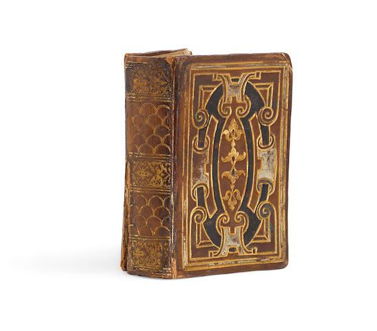 BIBLE IN HEBREW.  ESTIENNE, HENRI, Printer. Chamisha Chumshei Torah ... [Genesis through Leviticus, in Hebrew]. [Paris:  Rob. Stephani,  1544.]