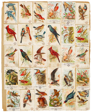 AMERICAN TRADE CARDS. A Scrap-book containing approximately 550 chromolithographed American trade cards,