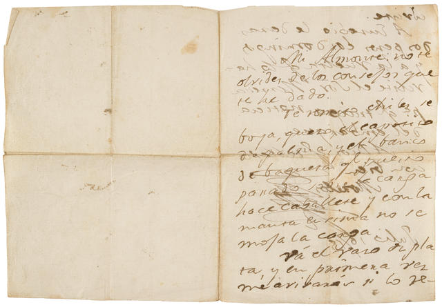 """MORELOS Y PAVON, JOSE MARIA. 1765-1815. Autograph Letter Signed (""""Morelos"""") in Spanish, to Brígida Almonte, the love of his life and mother of two of his children,"""