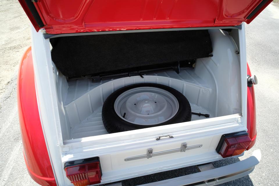 <b>1979 Citroen 2CV</b><br />Chassis no. GXYL02YL6266<br />Engine no. 02003648