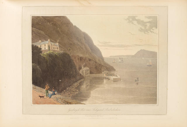 DANIELL, WILLIAM. 1769-1837'; and RICHARD AYTON. 1786-1823. A Voyage Round Great Britain, Undertaken in the Summer of the Year 1813, and Commencing From the Land's-End in Cornwall, by Richard Ayton, With a Series of Views Illustrative of the Character and Prominent Features of the Coast. London: Longman Hurst, Reese, Orme, and Brown, 1814-1826.