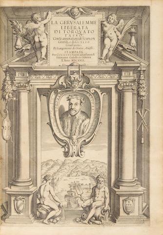 TASSO, TORQUATO. 1544-1595. La Gerusalemme Liberata.  Genoa: Giuseppe Pavoni, 1617.