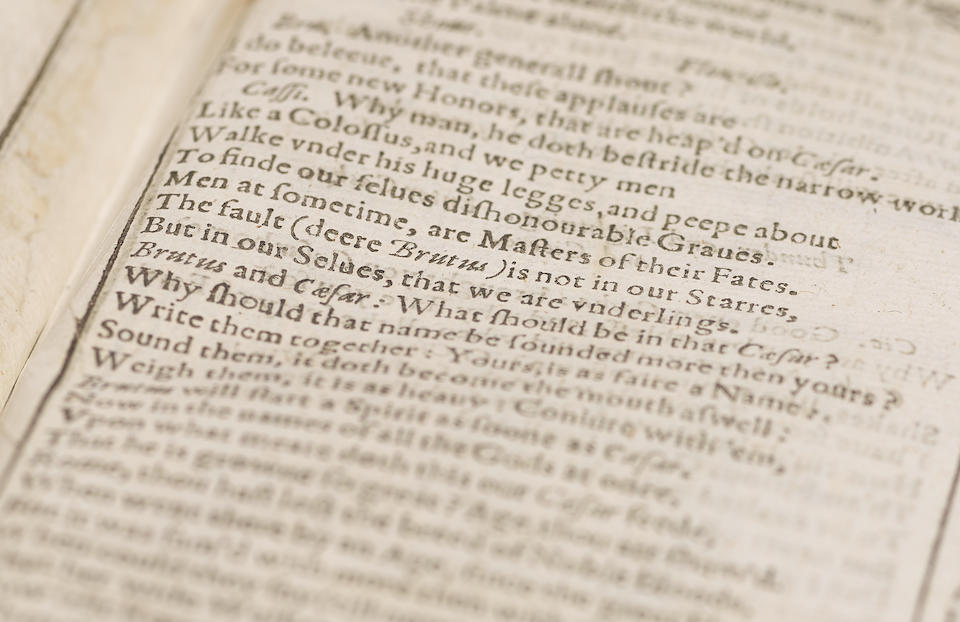 SHAKESPEARE, WILLIAM. 1564-1616. The Tragedie of Julius Caesar [Extracted from the First Folio]. [London: Isaac Jaggard..., 1623.]