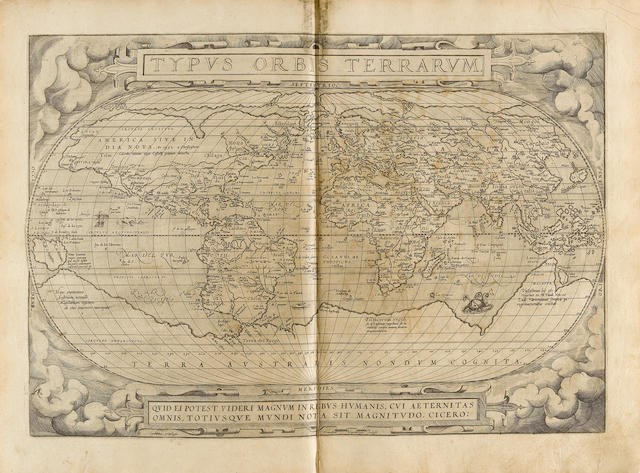 ORTELIUS, Abraham. 1527-1598. Theatrum orbis terrarum. Antwerp: Gilles Coppens de Diest, 1570.