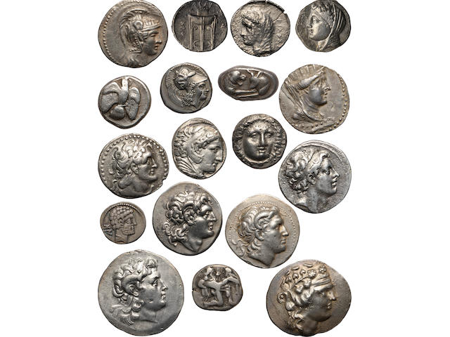 Large Collection of Ancient Greek Coins