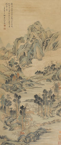Attributed to Sheng Zhongjing (1669-1735)  Spring Landscape