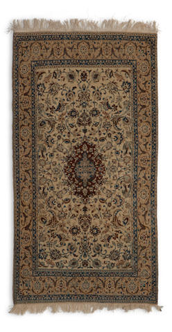 A Nain rug South Central Persia dimensions approximately 6ft 4in x 3ft 10in (193 x 117cm)