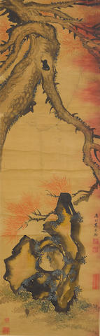 Attributed to Gao Fenghan (1683-1749)  Pine and Rock