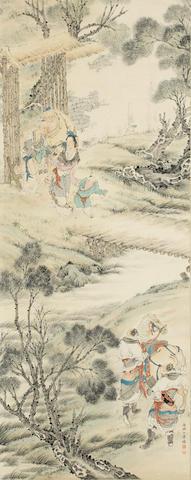 Bu Xiaohuai (1909-1970) Figures in Landscape