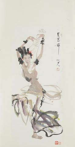 Yang Zhiguang (1930-2016) Dancer with Pipa