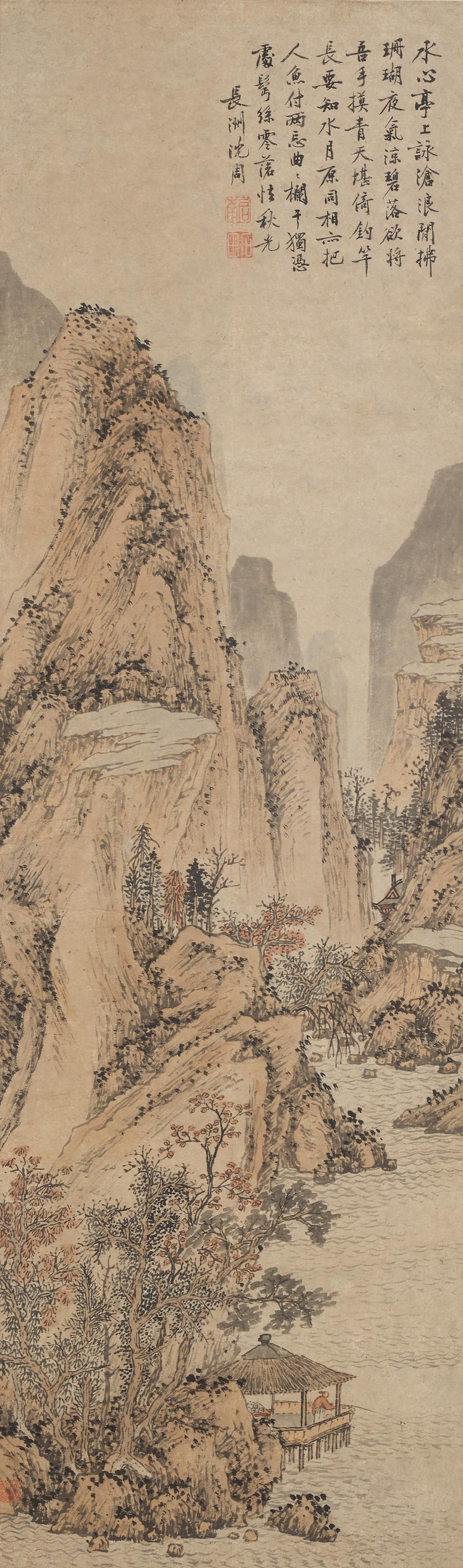 Anonymous (20th century)  Two paintings of Landscape