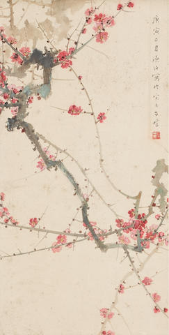 Various Artists (19th/20th century)  Two Paintings of Flowers
