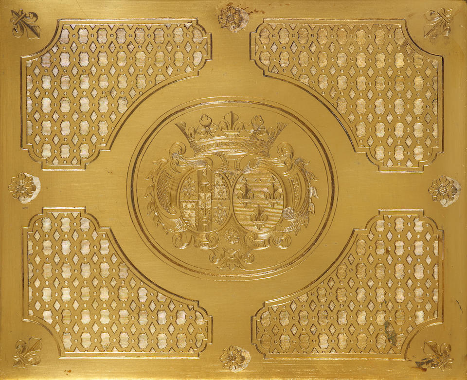 An Important and Rare Régence  silver-gilt toilette box from the Duchess of Modena Service no maker's mark evident, attributed to Nicholas Besnier, with charge, discharge and jurand marks for Paris,  1719