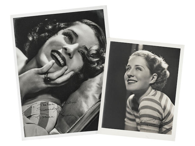 A pair of Norma Shearer signed photos, one by Hurrell