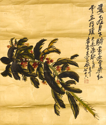 Wu Changshuo (1844-1927) Flowering Balsam, 1919