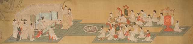Anonymous (20th century) Night Banquet After Qiu Ying