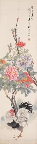 Various Artists (20th century)  Two paintings of Peonies
