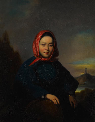 Lamqua (active 1825-1860) Portrait of Ah You