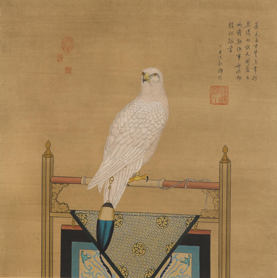 Anonymous (Qing dynasty) Two paintings of Birds of Prey