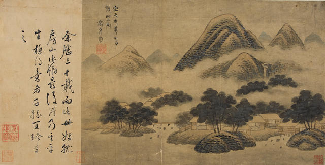 Various Artist (19th/20th century)  Two paintings of Landscape