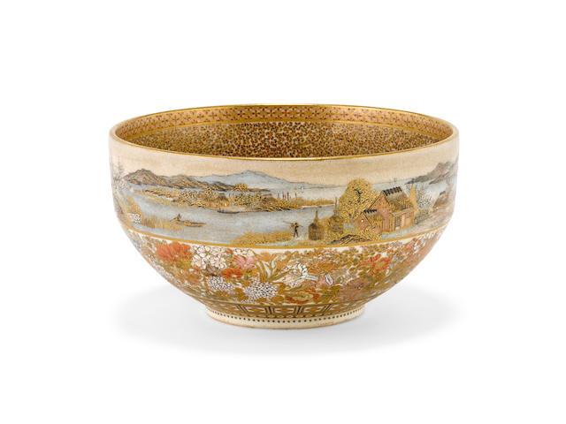 A small studio ware bowl Yabu Meizan (1853-1934), Meiji era