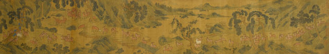 Various Artists (20th century)  Two paintings of Figures and Animals