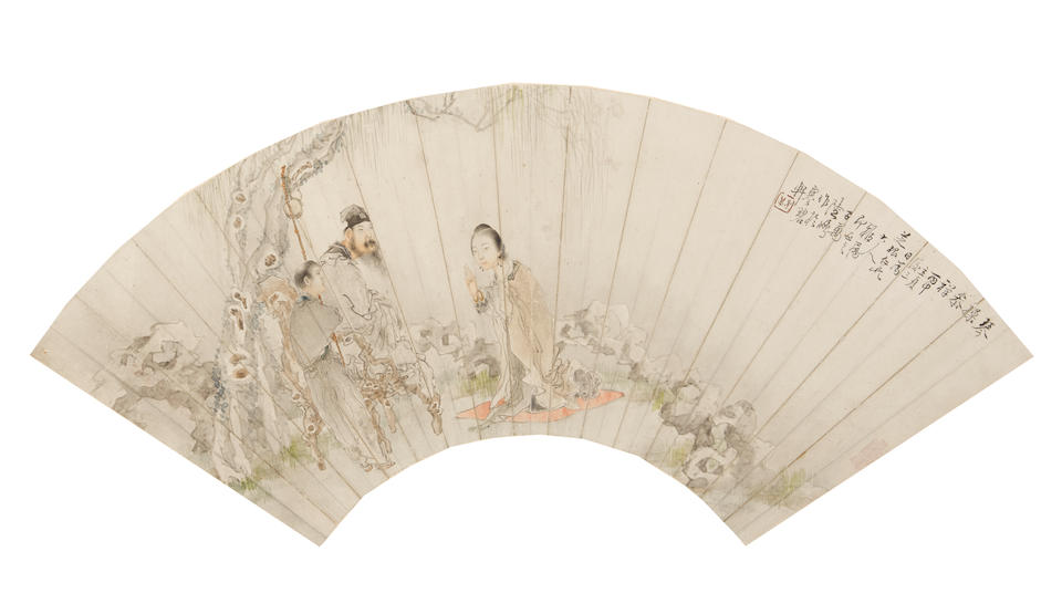 Various Artists (19th/20th century) Three paintings of Figures in Landscape
