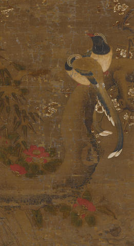 Anonymous (Qing dynasty) Flowers and Paired Birds
