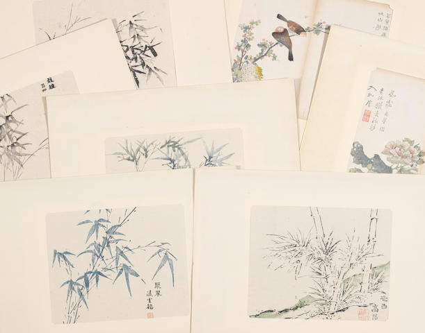 Anonymous (19th/20th century)  A set of three folios of woodblock prints from Mustard Seed Garden Painting Manual and Ten Bamboo Hall