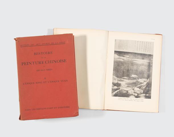 Osvald Sirén (1879-1966) Histoire de la Peinture Chinoise - Des Origines à l'Epoque Song et l'Epoque Yuan