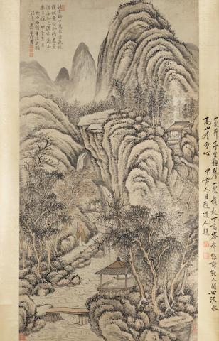 Dong Bangda (1699-1769)  Landscape after Shen Zhou, 1744
