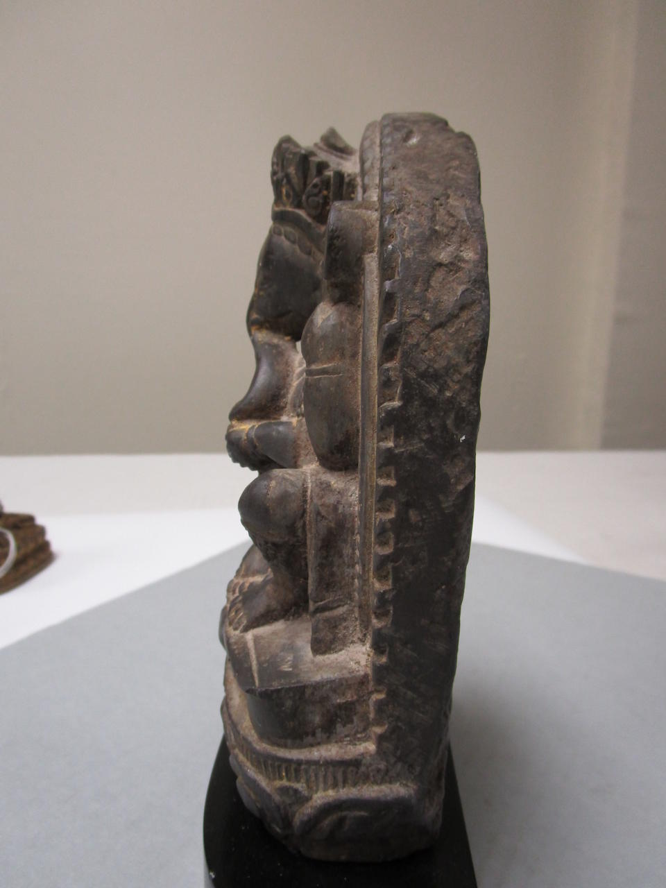 A BLACK STONE STELE OF GANESHA Nepal, circa 17th century